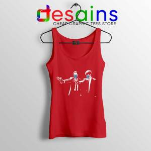 Pulp Fiction Covid19 Red Tank Top Covid Fiction Film Tops S-3XL