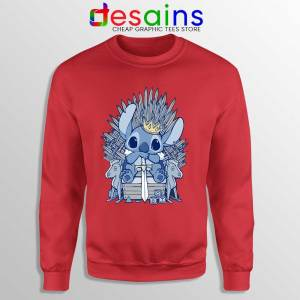 Stitch In Side Thrones Red Sweatshirt Game of Thrones Funny Sweaters