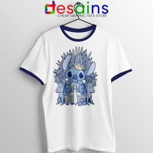 Stitch In Side Thrones Ringer Tee Game of Thrones Funny Unisex Ringer