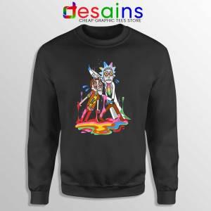 Trippy Rick and Morty Sweatshirt Cheap Adult Swim Sweaters S-3XL