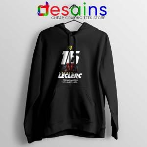 Charles Leclerc Race Car Black Hoodie F1 Driver Jacket Hoodies