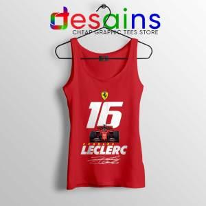 Charles Leclerc Race Car Tank Top F1 Driver Tops S-3XL