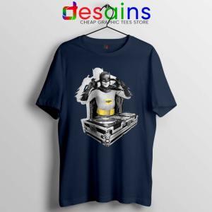 DJ The Dark Knight Navy Tshirt Funny Batman DJ Tee Shirts S-3XL