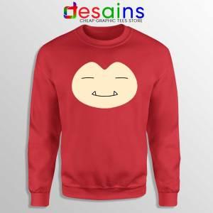 Face Snorlax Pokemon Go Red Sweatshirt Cute Snorlax Sweaters