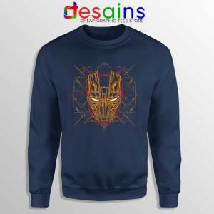 Iron Man Tech Navy Sweatshirt Marvel Iron Man Mask Art Sweaters