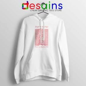 Japanese Joy Division White Hoodie Unknown Pleasures Jacket Bands