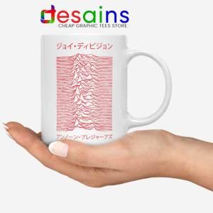 Japanese Joy Division White Mug Unknown Pleasures Coffee Mugs