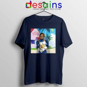 Kendrick Lamar Zenkai Navy Tshirt Hip Hop's Dragon Ball Tee Shirts