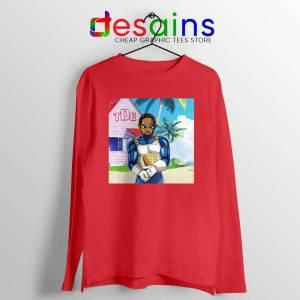 Kendrick Lamar Zenkai Red Long Sleeve Tee Hip Hop's Dragon Ball T-shirts