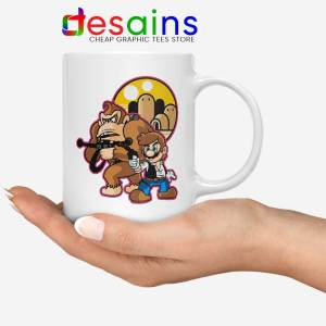 Mario Han Solo White Mug Star Wars Super Mario Coffee Mugs 11oz