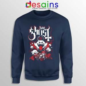 Papa Boo Ghost Navy Sweatshirt Mario and Yoshi Sweaters Game