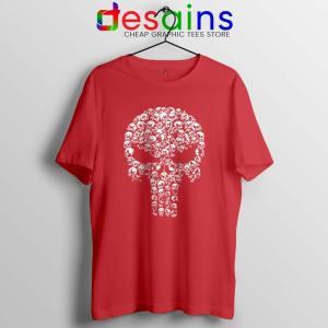 Punisher Skull Symbol Red Tshirt Marvel Comics Cheap Tee Shirts
