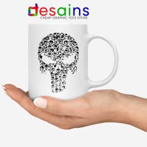 Punisher Skull Symbol White Mug Marvel Comics Coffee Mugs 11oz