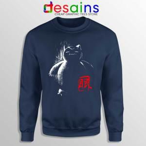 Sleep Snorlax Monster Navy Sweatshirt Japanese Pokemon Sweaters