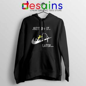 Snoopy Just Do it Later Black Hoodie Lazy Peanuts Dog Jacket