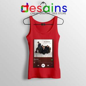 Zombie The Cranberries Red Tank Top Rock Band Merch Tops