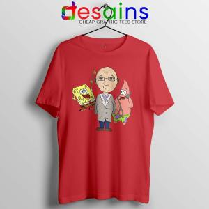Doctor Spongebob Patrick Red Tshirt Funny Cartoon Tee Shirts