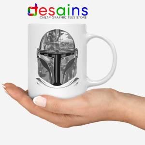 Mandalorian Helmet White Mug Star Wars Boba Fett Coffee Mugs