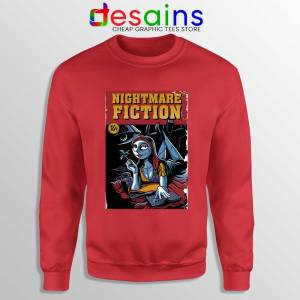 Pulp Fiction Girl Red Sweatshirt Nightmare Before Christmas