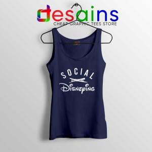 Social Disneying Navy Tank Top Covid-19 Social Distancing Tops
