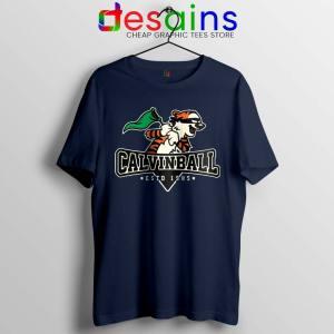 Calvin Ball Navy Tshirt Calvin and Hobbes MLB Tee Shirts