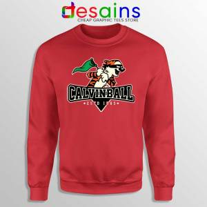 Calvin Ball Red Sweatshirt Calvin and Hobbes MLB Sweaters