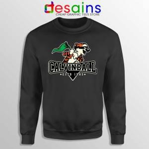 Calvin Ball Sweatshirt Calvin and Hobbes MLB Sweaters