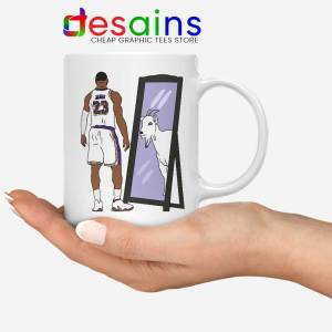 LeBron James Mirror GOAT Mug Los Angeles Lakers Coffee Mugs