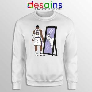 LeBron James Mirror GOAT Sweatshirt Los Angeles Lakers Sweaters