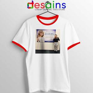 Phoebe and Taylor Swift Red Ringer Tee Education Center T-shirts