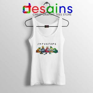 Among Us Crewmates White Tank Top Friends Impostor Tops