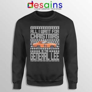 Dukes Hazzard Ugly Christmas Sweatshirt General Lee Car