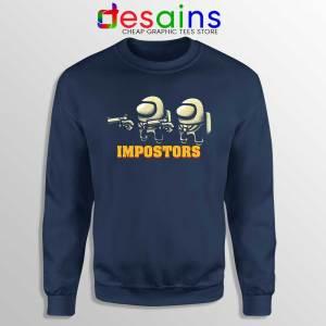 Impostor Fiction Navy Sweatshirt Pulp Fiction Among Us Sweaters