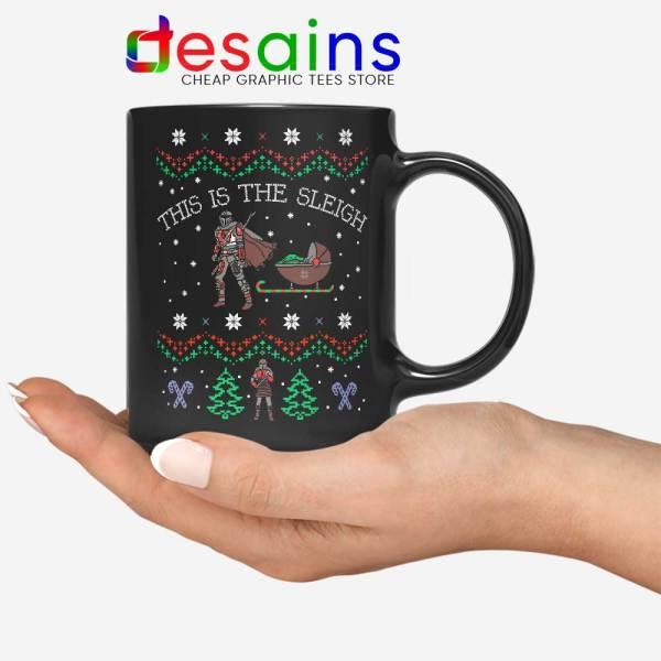 Mando Ugly Christmas Mug This Is The Sleigh Coffee Mugs
