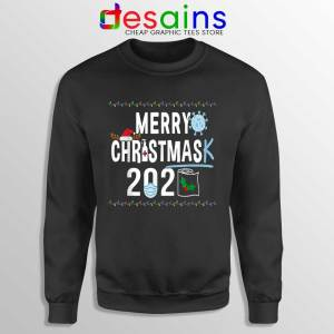 Merry Christmask Sweatshirt Quarantine Ugly Christmas