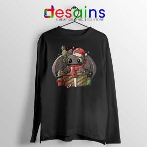 Toothless Dragon Santa Long Sleeve Tee Christmas Night Fury