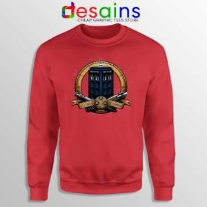 Allons y Geronimo Red Tardis Sweatshirt Doctor Who Sweaters