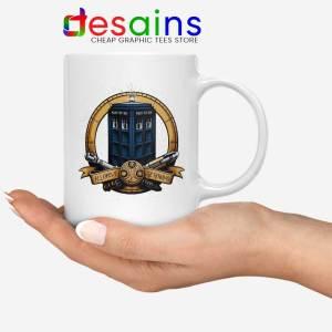 Allons y Geronimo White Tardis Mug Doctor Who Coffee Mugs