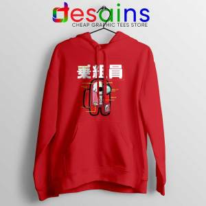Anatomy of a Crewmate Red Hoodie Among Us Game Jacket