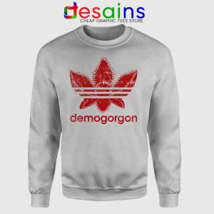 Demogorgon Adidas Sport Grey Sweatshirt Stranger Things Three Stripes
