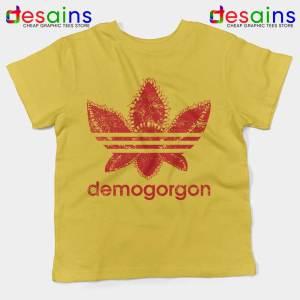 Demogorgon Adidas Yellow Kids Tee Stranger Things Three Stripes