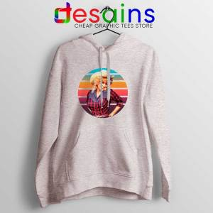 Dolly Parton Retro Style Sport Grey Hoodie Country Music Vintage Jacket