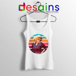 Dolly Parton Retro Style Tank Top Country Music Vintage Tops