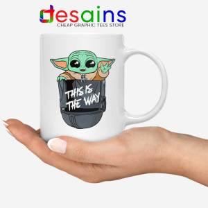 Grogu Pocket Helmet Mug Baby Yoda Mandalorian Coffee Mugs