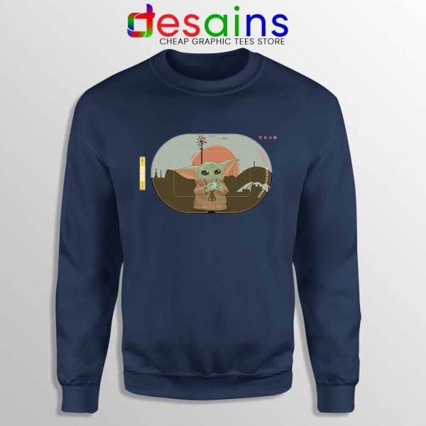 Grogu Target Mando Navy Sweatshirt Star Wars Disney+