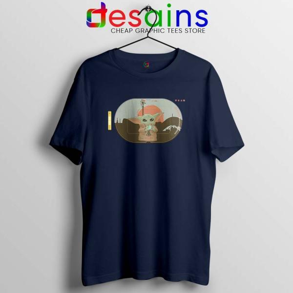 Grogu Target Mando Navy Tshirt Star Wars Disney+ Tee Shirts