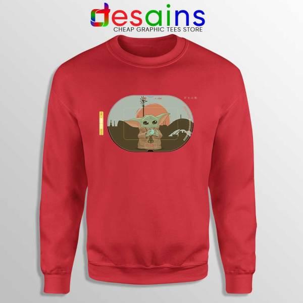 Grogu Target Mando Red Sweatshirt Star Wars Disney+