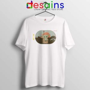 Grogu Target Mando White Tshirt Star Wars Disney+ Tee Shirts