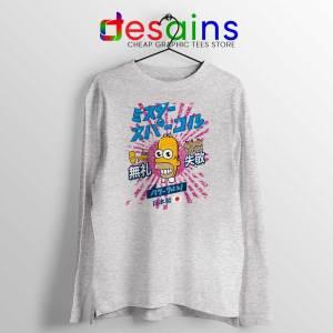 Homer Simpson Mr Sparkle Sport Grey Long Sleeve Tee Rising Sun
