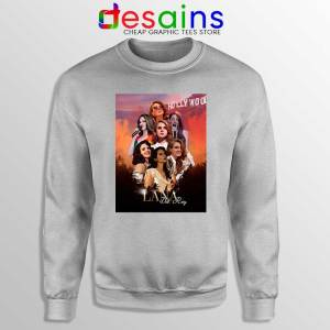 Lana Del Rey Hollywood Sport Grey Sweatshirt Born to Die Sweaters